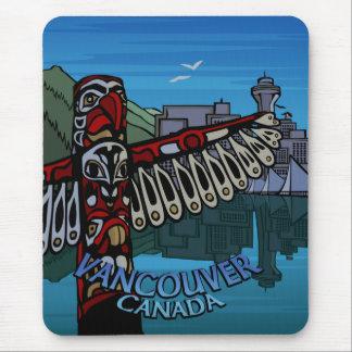 Vancouver Canada Souvenir Mouse Pad Totem Pole Art