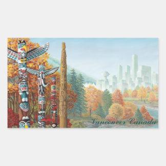 Vancouver Canada Stickers Landmark Souvenir Art