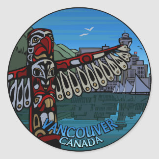 Vancouver Canada Stickers Native Art Souvenir Gift