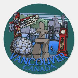 Vancouver Canada Stickers Totem Pole Landmark Art