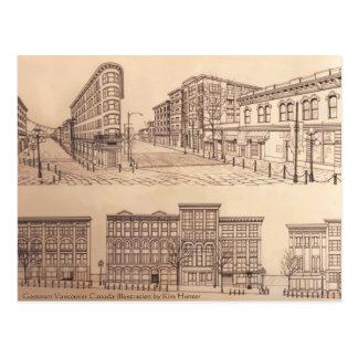 Vancouver carda las postales de los recuerdos del