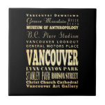 Vancouver City of Canada Typography Art Ceramic Tile