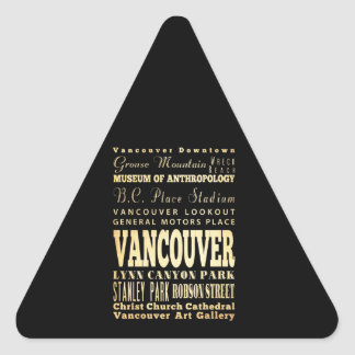 Vancouver City of Canada Typography Art Triangle Sticker