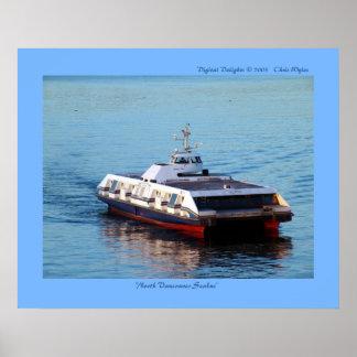 """Vancouver del norte Seabus "" Póster"