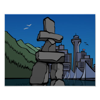 Vancouver First Nation Poster Inukshuk Home Decor