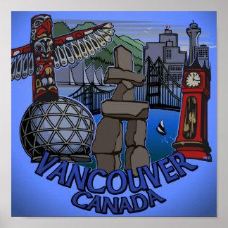 Vancouver First Nations Poster Landmark Art Decor