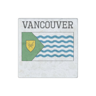 Vancouver Flag Stone Magnet