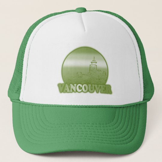 Vancouver Green Sun Trucker Hat