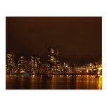 Vancouver Harbour at Night Post Card