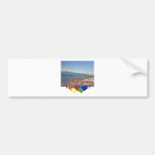 Vancouver Hearts Bumper Sticker