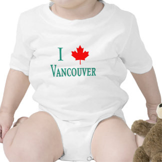 Vancouver I LOVE VANCOUVER with Maple Leaf Tees