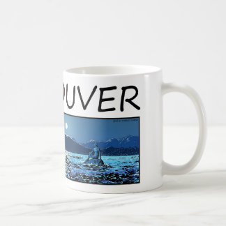 Vancouver Illustration - Girl in wet suit Coffee Mug