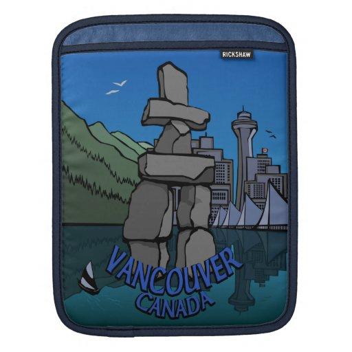 Vancouver iPad Sleeve Vancouver Landmarks Souvenir