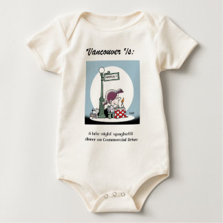 Vancouver Is: f - by harrop Baby Bodysuit