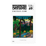 Vancouver Island Advertising Poster Postage Stamps
