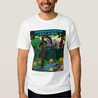 Vancouver Island Advertising Poster T-Shirt