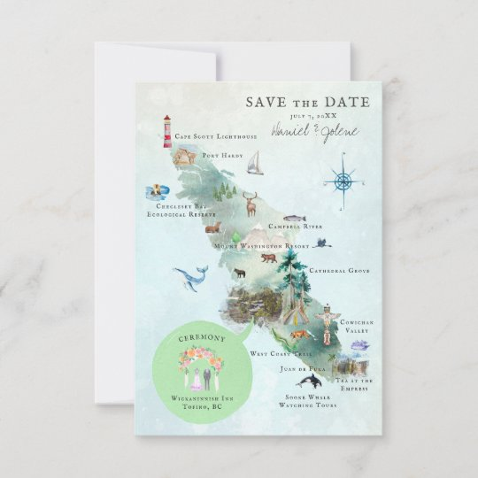 Vancouver Island BC Wedding Itinerary Map on make an map, make a letter, make an invitation, make an application, make an invoice,