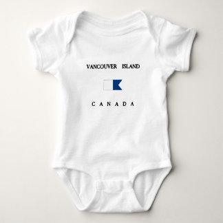Vancouver Island Canada Alpha Dive Flag Baby Bodysuit