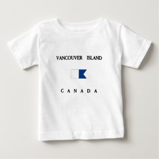 Vancouver Island Canada Alpha Dive Flag Baby T-Shirt