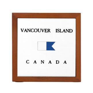 Vancouver Island Canada Alpha Dive Flag Desk Organizer