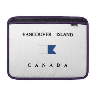 Vancouver Island Canada Alpha Dive Flag MacBook Sleeve
