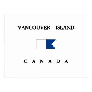Vancouver Island Canada Alpha Dive Flag Postcard