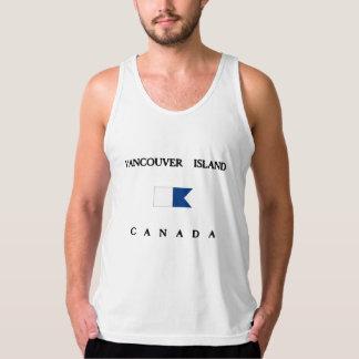 Vancouver Island Canada Alpha Dive Flag Tank Top