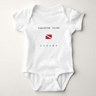 Vancouver Island Canada Scuba Dive Flag Baby Bodysuit