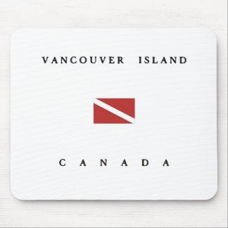 Vancouver Island Canada Scuba Dive Flag Mouse Pad