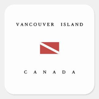Vancouver Island Canada Scuba Dive Flag Square Sticker