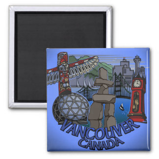Vancouver Magnet BC Souvenir Landmark Art Gifts