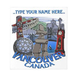 Vancouver Notepad Personalized Vancouver Souvenir