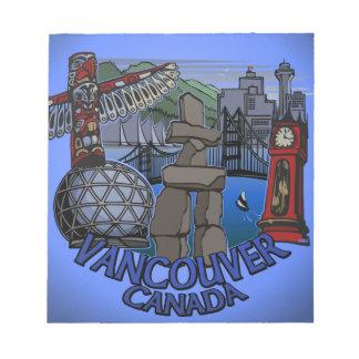 Vancouver Notepad Vancouver Landmarks Souvenir