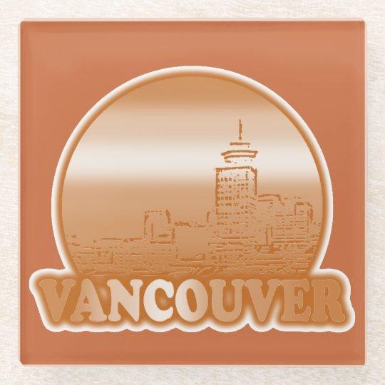 Vancouver Orange Sun Glass Coaster