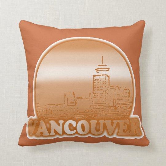Vancouver Orange Sun Throw Pillow