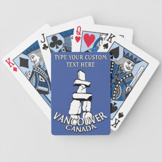 Vancouver Playing Cards Personalized Inukshuk Card