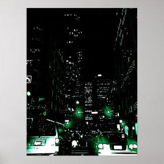 Vancouver por noche poster