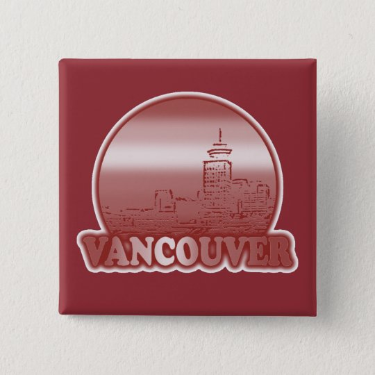 Vancouver Red Sun Button
