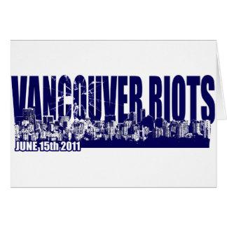 Vancouver Riots 2011 Card