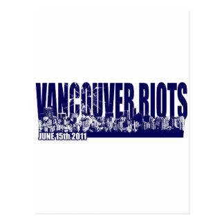 Vancouver Riots 2011 Postcard