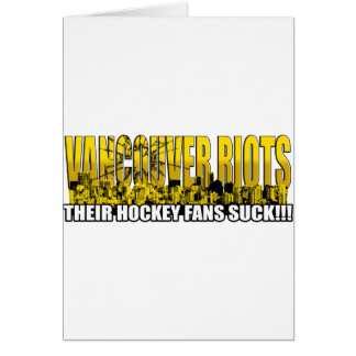 Vancouver Riots 2011 - Their Hockey Fans Suck!!! Card