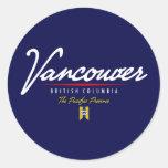 Vancouver Script Classic Round Sticker