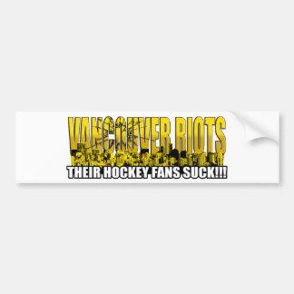 ¡Vancouver se amotina 2011 - sus fans de hockey ch Pegatina Para Auto