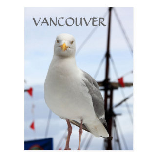 Vancouver, Seagull and Boat Postcard