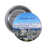 Vancouver Skyline 2 Inch Round Button