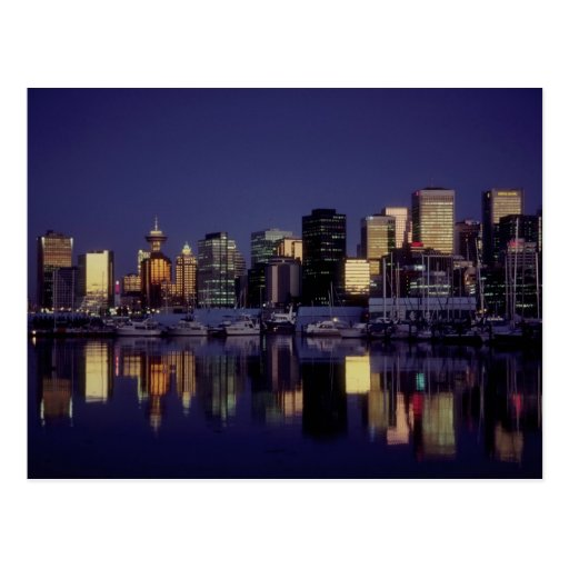 Vancouver skyline, British Columbia, Canada Postcard