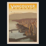 "Vancouver Skyline | Canada Postcard<br><div class=""desc"">Anderson Design Group is an award-winning illustration and design firm in Nashville,  Tennessee. Founder Joel Anderson directs a team of talented artists to create original poster art that looks like classic vintage advertising prints from the 1920s to the 1960s.</div>"
