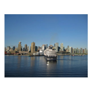 Vancouver skyline from Canada Place, BC Postcard