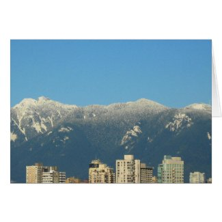 Vancouver Skyline Note Card