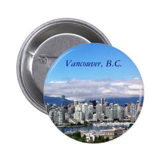 Vancouver Skyline Pinback Button